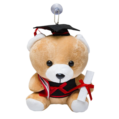 SA17 - Graduation Bear Soft Toy with Car Glass Hanger