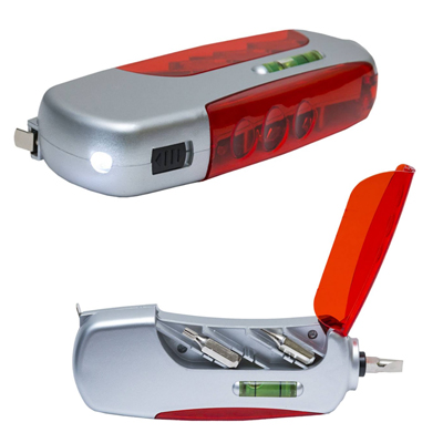 SA04 - Multitool - Screwdriver, Torchlight, Measuring Tape and Stabilization Tape