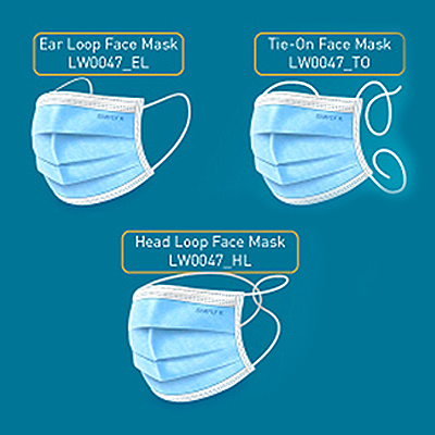 CVP004 - 3-Ply Disposable Face Mask